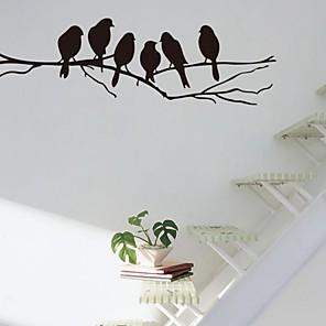 ieftine Acțibilde de Decorațiuni-Desene Animate Perete Postituri Animal Stickers de perete Autocolante de Perete Decorative, Vinil Pagina de decorare de perete Decal Perete Decor / Detașabil