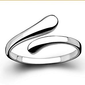 ieftine Inele-Pentru femei Band Ring Inel de declarație Argintiu Plastic De Bază Deschis Nuntă Petrecere Bijuterii Iubire