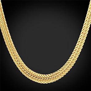 ieftine Colier la Modă-Pentru femei Lanțuri Lănțișor chunky Foxtail lanț Lanț de lanț femei Vintage Petrecere Birou 18K Placat cu Aur Aliaj Auriu Coliere Bijuterii Pentru Ocazie specială Zi de Naștere Cadou