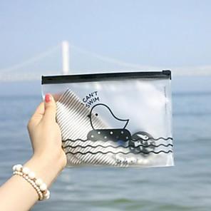 ieftine Organizatoare Birou-Geanta model pui zip plastic transparent (culoare aleatorii)