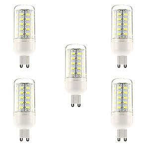 저렴한 LED 콘 조명-ywxlight® 5pcs e27 g9 5730smd 48led 차가운 백색 온난 한 백색지도 된 전구지도 된 옥석 전구 샹들리에 초 점화 AC 220-240 v