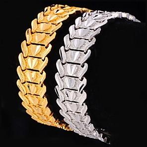 ieftine Costume Cosplay-Pentru femei Brățări cu Lanț & Legături chunky Inimă Iubire femei Personalizat Lux Clasic Placat cu platină Bijuterii brățară Auriu / Argintiu Pentru Cadouri de Crăciun Nuntă Petrecere Zilnic Casual