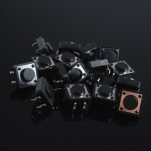 ieftine Conectoare & Terminale-12x12x5mm buton de micro comutator comutator mic comutator cheie-press (20buc)