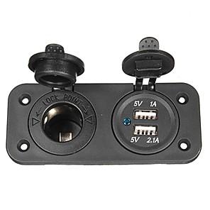 ieftine Cercei-încărcător auto adaptor priza de 12V USB pentru motociclete& auto
