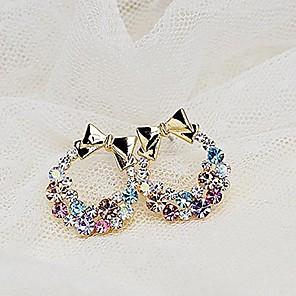 ieftine Cercei-Pentru femei Cristal Cercei Stud Modă Druzy Ștras cercei Bijuterii Auriu Pentru Zilnic