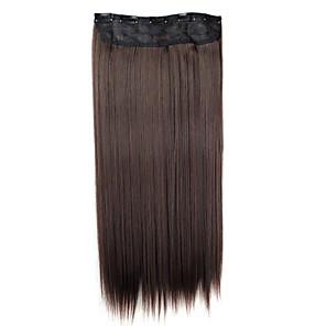 ieftine Extensii de Păr-Extensii din Păr Natural Clasic Extensie de păr Agață În / Pe Maro Zilnic