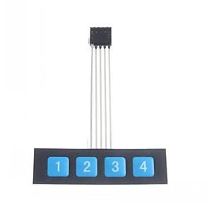 ieftine Componente DIY-Cheie 1x4 panou de control comutator membrana matrice tastatură tastatură subțire