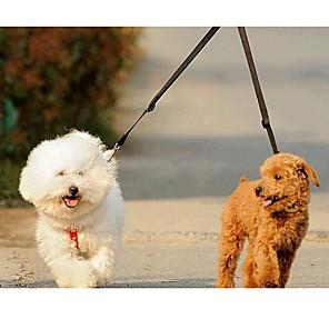 ieftine Câini Gulere, hamuri și Curelușe-Pisici Câine Lese Dublu Mată Nailon Verde Albastru Roz
