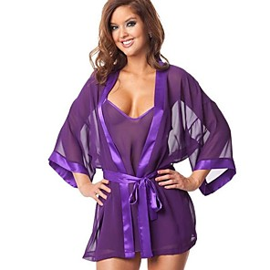 povoljno Halloween smink-Žene Odore Seksi uniforme Pidžama Spol Cosplay Nošnje Kaput Haljina