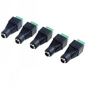 ieftine Conectoare & Terminale-5.5 x 2.1mm CCTV DC prize adaptor (5-pack)