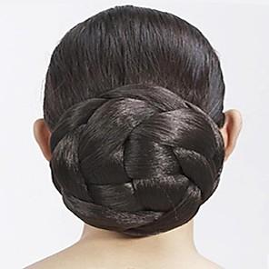 ieftine Produse Fard-Clasic Coc updo Păr Sintetic Fir de păr Extensie de păr Clasic Zilnic Maro / Auriu Deschis / Maro Închis