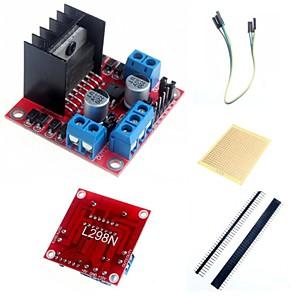 ieftine Conectori-L298N dublă h pod motor pas cu pas driverul de controler modul bord si accesorii pentru Arduino