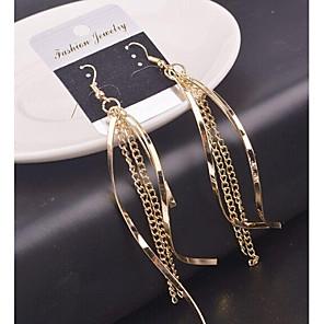 ieftine Coliere-Pentru femei Cercei Picătură Dangling Dangle Placat Auriu cercei Bijuterii Pentru Nuntă Petrecere Zilnic Casual Sport