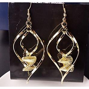 ieftine Cercei-Pentru femei Cercei Picătură Placat Auriu cercei Bijuterii Pentru Nuntă Petrecere Zilnic Casual Sport