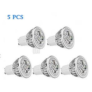 5pcs 4 W LED-spotpærer 300 lm GU10 4 LED perler Høyeffekts-LED Mulighet for demping Varm hvit Kjølig hvit 220-240 V 85-265 V / 5 stk. / RoHs