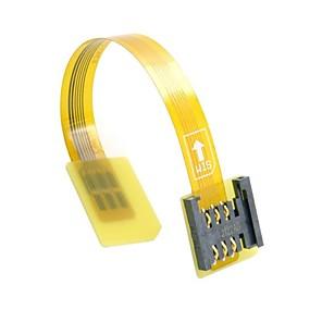 ieftine Spoturi LED-GSM CDMA standard de sex masculin kit cartela SIM UIM pentru extensie de sex feminin cablu FPC plat moale extender 10cm