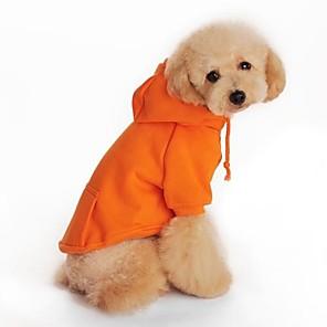Hund Hettegensere Fleece-hettegenser Ferie Hundeklær Svart Rød Oransje Kostume Bomull XS S M L XL XXL