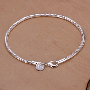 ieftine Produse Fard-Pentru femei Brățări cu Talismane Șarpe femei Design Unic Modă Argilă Bijuterii brățară Argintiu Pentru Nuntă Petrecere Zilnic Casual