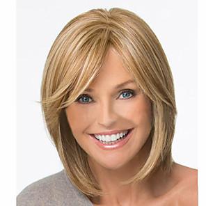 ieftine Peruci & Extensii de Păr-Peruci Sintetice Drept Drept Perucă Blond Scurt Maro Blond Păr Sintetic 12 inch Pentru femei Blond