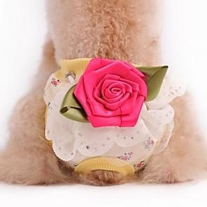 ieftine Imbracaminte & Accesorii Căței-Câine Pantaloni Nuntă Îmbrăcăminte Câini Galben Verde Deschis Roz Costume Bumbac S M L XL