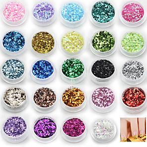 ieftine Îngrijire Unghii-24 pcs Strălucire Paiete nail art pedichiura si manichiura Zilnic Abstract / Modă