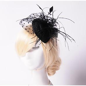 ieftine Bijuterii de Păr-Perle / Cristal / Pană Diademe / Palarioare / Palarie cu 1 Nuntă / Ocazie specială / Party / Seara Diadema / Material Textil