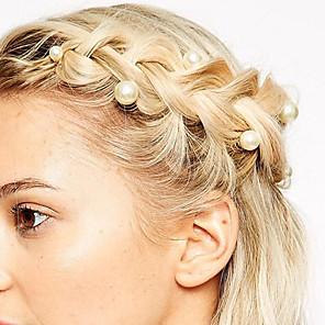 ieftine Bijuterii de Păr-Pentru femei Agrafe de păr Pentru Zilnic Imitație de Perle Aliaj 8# 12#