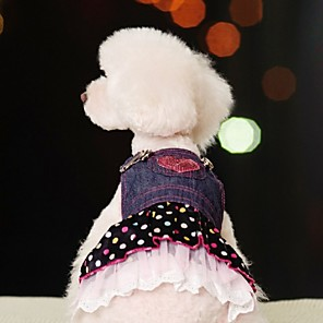 ieftine HDMI-Câine Rochii Buline Blugi Cosplay Îmbrăcăminte Câini Albastru Costume Bumbac XS S M L XL