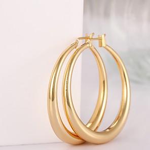 ieftine Cercei-Pentru femei Cercei Rotunzi femei Modă Placat Auriu Placat Cu Aur Roz cercei Bijuterii Culoare ecran / Roz auriu Pentru