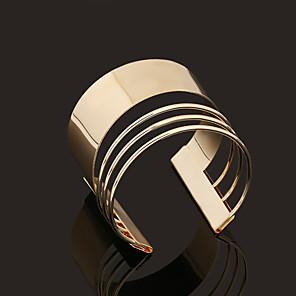 ieftine Brățări-Pentru femei Brățări Bantă femei Personalizat Vintage stil minimalist Deschis Placat Auriu Bijuterii brățară Auriu Pentru Cadouri de Crăciun Nuntă Petrecere Zilnic Casual