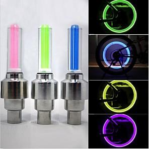 ieftine Lumini de Bicicletă-LED Lumini de Bicicletă Lumini de Bicicletă lumini intermitente capac robinet lumini roți - Ciclism montan Bicicletă Ciclism Rezistent la apă 50 lm Baterie Ciclism / ABS / IPX-4