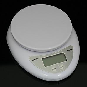 Χαμηλού Κόστους Εργαλεία και γκάτζετ ψησίματος-5kg 5000g / 1g κουζίνα κουζίνα διατροφή ταχυδρομική ψηφιακή κλίμακα ηλεκτρονικό βάρος κλίμακες ισορροπία ζύγισης οδήγησε ηλεκτρονικές ζυγαριές κουζίνας
