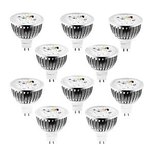 10pcs 4 W 320 lm MR16 LED-spotpærer 4 LED perler Høyeffekts-LED Mulighet for demping Varm hvit / Kjølig hvit / Naturlig hvit 12 V / 10 stk. / RoHs
