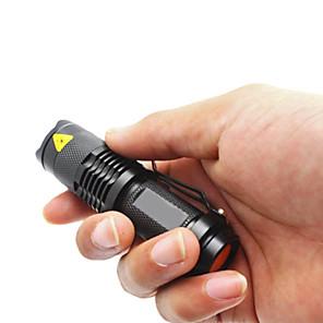 abordables Lampes de Poche-SK68 Lampes Torches LED Imperméable 1200 lm LED LED 1 Émetteurs 1 Mode d'Eclairage Imperméable Fonction Zoom Faisceau Ajustable Multifonction Noir / Alliage d'Aluminium