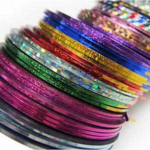 ieftine Îngrijire Unghii-30 pcs Unghii foarfece bandă striping nail art pedichiura si manichiura Abstract / Modă Zilnic / Foil Stripping Tape