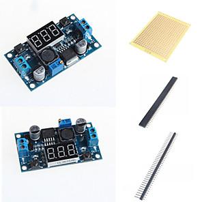 ieftine Afișaje-lm2596 dc-dc module reglabile pas în jos cu un ecran de metri de tensiune și accesorii