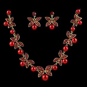 povoljno Zidni ukrasi-Žene Biseri Naušnice Jewelry Obala / Crvena Za Vjenčanje / Ogrlice