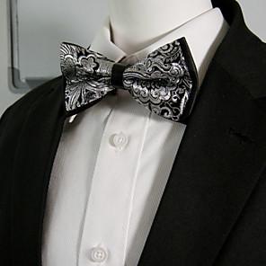 ieftine Coliere-Bărbați Bloc Culoare / Imprimeu Paisley Funde / În Straturi Petrecere Papion Cravată