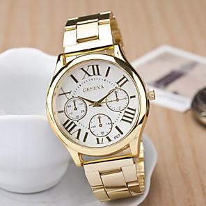 povoljno Muški satovi-Žene Ručni satovi s mehanizmom za navijanje Kvarc Nehrđajući čelik Zlatna Casual sat Analog dame Šarm Moda