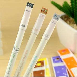 billige Tegne- og skriveredskaber-Kuglepen Pen Gel Penne Pen, Plast Sort Blæk Farver For Skoleartikler Kontorartikler Pakke med