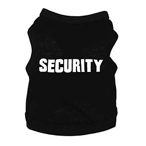 ieftine Imbracaminte & Accesorii Căței-Pisici Câine Tricou Îmbrăcăminte Câini Negru Albastru Costume Bumbac Literă & Număr Casul / Zilnic XS S M L XL XXL