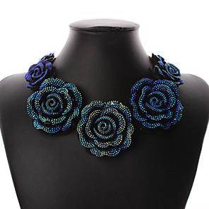 ieftine Inele-Pentru femei Resin Guler Trandafiri Floare Declarație femei Vintage Petrecere Casual Modă Reșină cercei Bijuterii Albastru Pentru Petrecere Ocazie specială Aniversare Zi de Naștere Cadou / Coliere