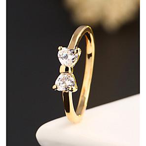 billige Praktiske Joke Gadgets-Dame Statement Ring Legering Damer Mode Bryllup Fest Smykker to sten / Zirkonium