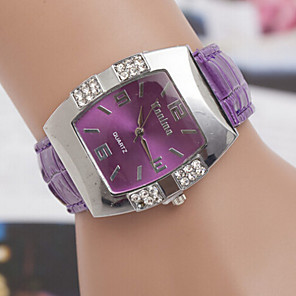 ieftine Ceasuri Damă-Pentru femei Ceas La Modă Diamond Watch Piața de ceas Quartz Piele Negru / Albastru / Pink Ceas Casual Analog femei Elegant - Mov Rosu Roz Un an Durată de Viaţă Baterie / SOXEY SR626SW