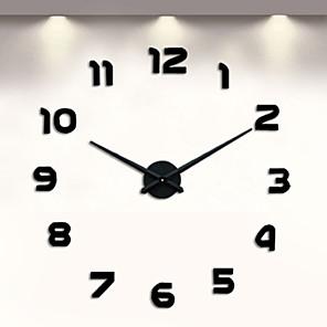 ieftine Cititor Carduri-fără ceas diy ceas de perete, ceas de perete 3d mare autocolante mute perete pentru dormitor dormitor acasă decoratiuni (negru)