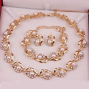 ieftine Seturi de Bijuterii-Pentru femei Seturi de bijuterii Modă Perle cercei Bijuterii Auriu Pentru Nuntă Petrecere Ocazie specială Aniversare Zi de Naștere Cadou / Zilnic / Cercei / Coliere / Logodnă