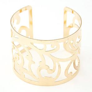ieftine Brățări-Pentru femei Brățări Bantă Wide Bangle Gol Floare femei European Modă Deschis Aliaj Bijuterii brățară Auriu / Argintiu Pentru Cadouri de Crăciun Petrecere Zilnic Casual