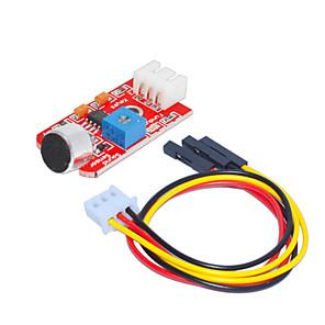ieftine Conectoare & Terminale-Senzorul de sunet (roșu) 1 gaura Terminal alb cu sârmă 3pin DuPont