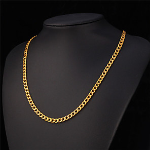 ieftine Brățări-Bărbați Lănțișoare Vintage Colier Curb chain femei Gotic Modă Teak Placat Auriu Alb Negru Auriu Coliere Bijuterii Pentru Nuntă Petrecere Zilnic Casual
