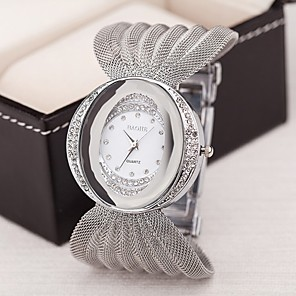 ieftine Ceasuri Damă-Pentru femei Ceasuri de lux Ceas Brățară Diamond Watch Quartz femei imitație de diamant Argint / Maro / Auriu Analog - Auriu Argintiu